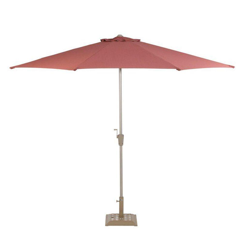 null 10 ft. Commercial Patio Umbrella in Rose-DISCONTINUED