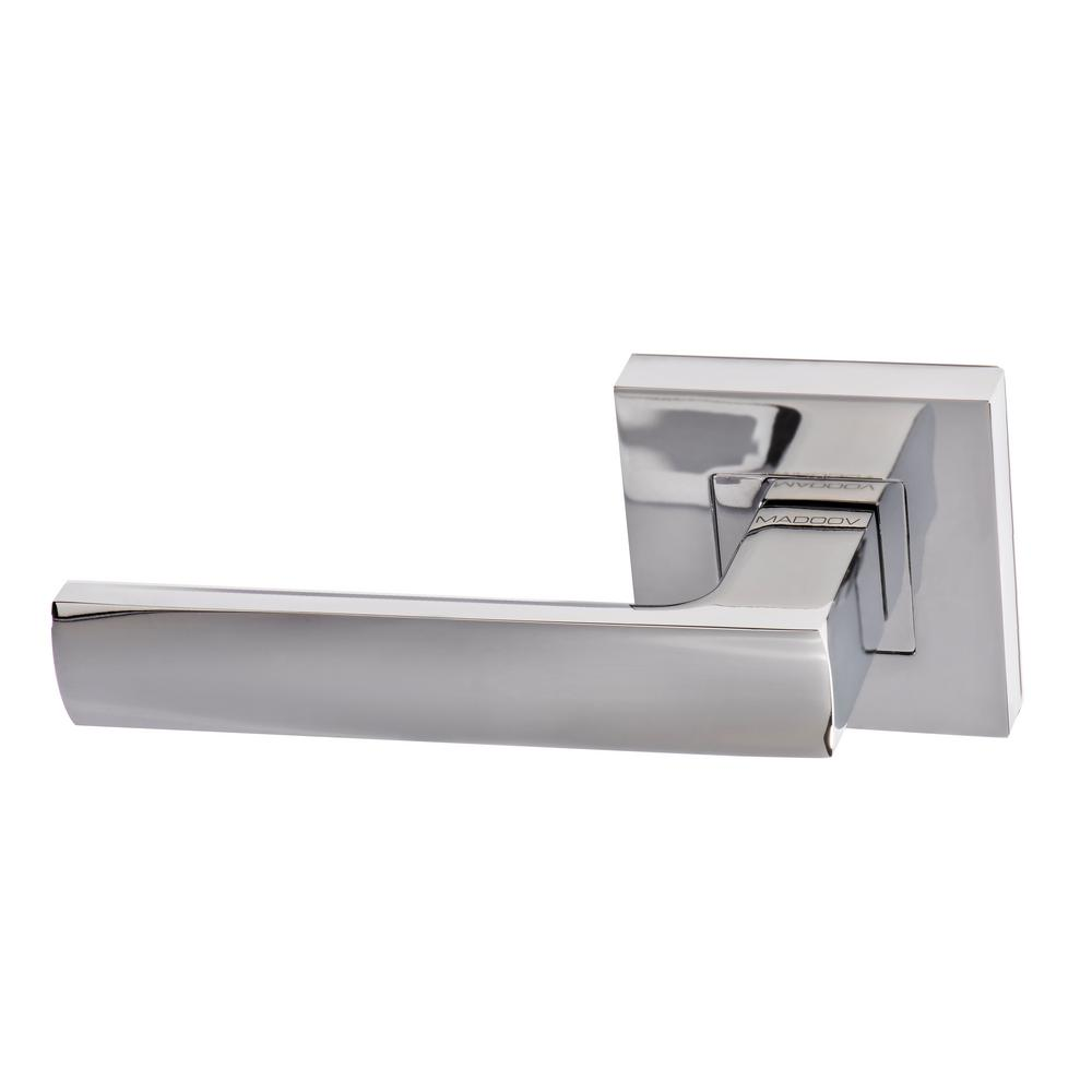 Monaco Contemporary Polished Chrome Dummy Door Lever Handle Set