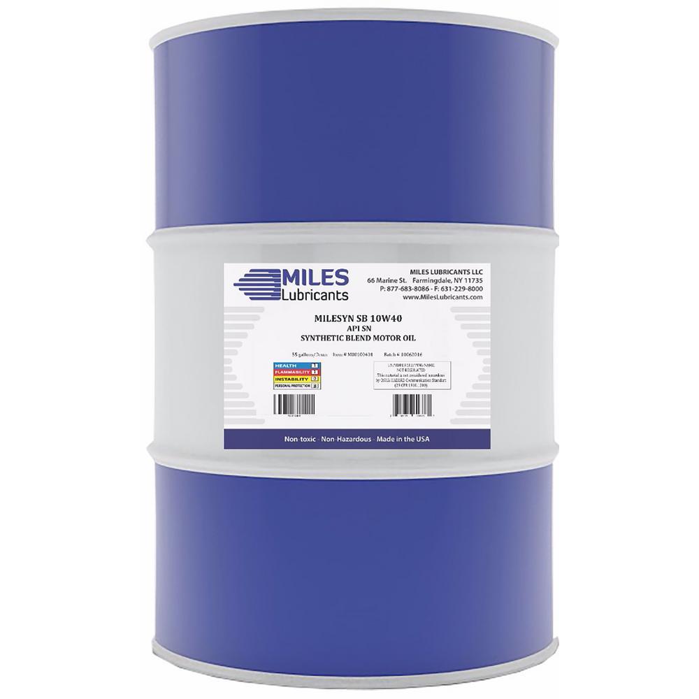 Milesyn SB 10W40 API GF-5/SN 55 Gal. Synthetic Blend Motor Oil Drum