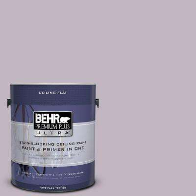 1 gal. #PPU16-09 Ceiling Tinted to Aster Flat Interior Paint and Primer in One