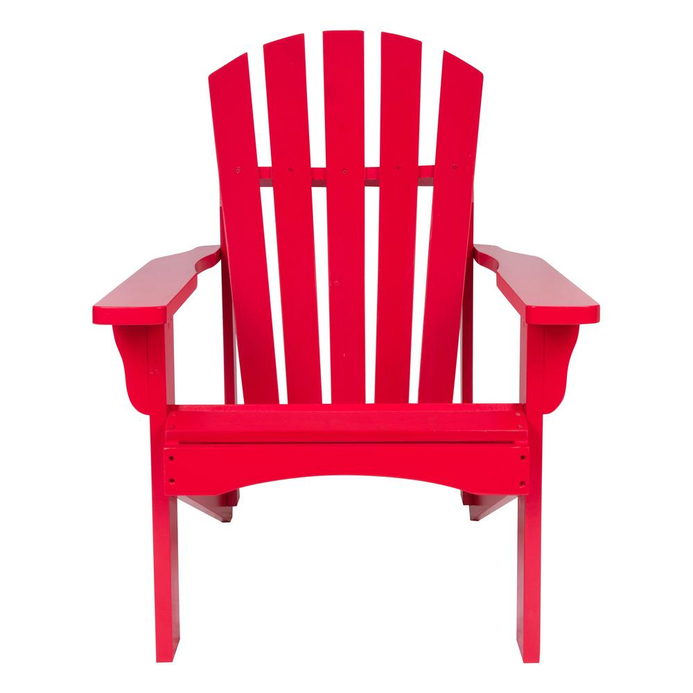 Shine Company Rockport Tomato Red Cedar Wood Adirondack Chair