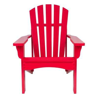 Rockport Tomato Red Cedar Wood Adirondack Chair