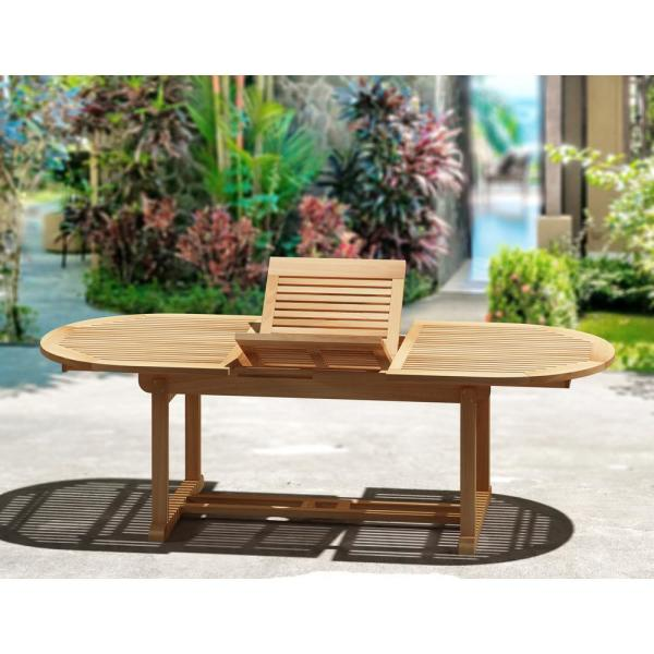 Unbranded Natural Teak Outdoor Dining Table With Extension Tk8228a The Home Depot