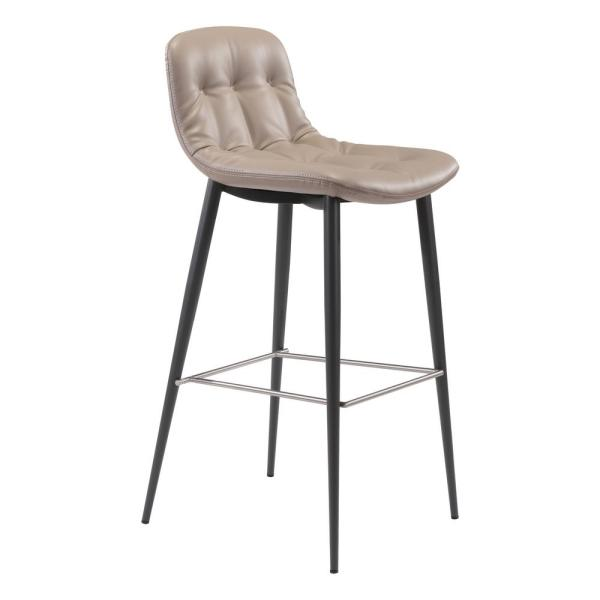 Tangiers 40.2 in. Taupe Bar Chair (Set of 2)