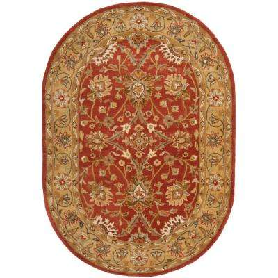 Antiquity Rust/Gold 5 ft. x 7 ft. Oval Area Rug