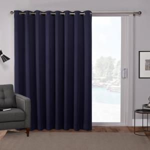 Sateen Patio 100 In W X 84 In L Woven Blackout Grommet Top Curtain