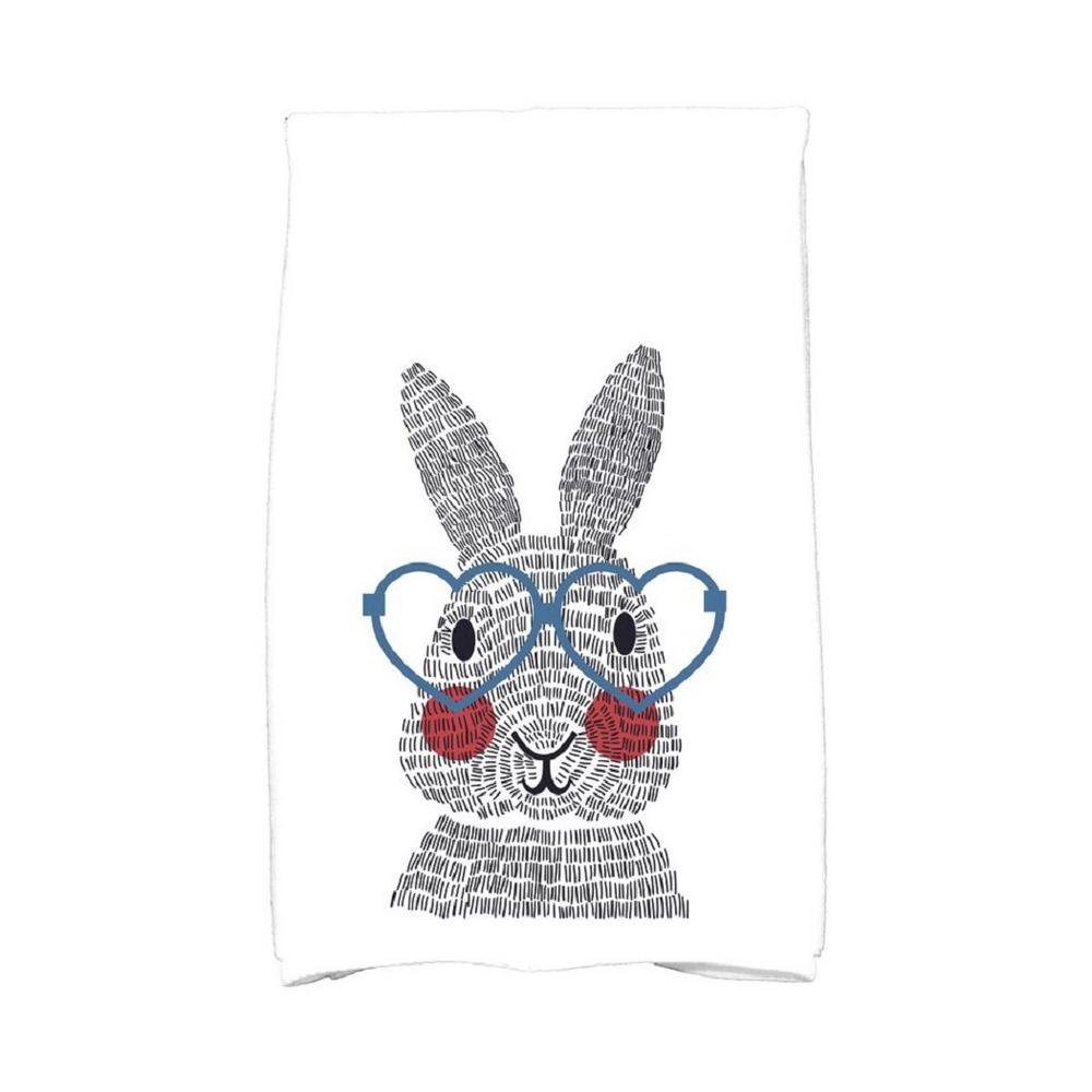 16 In X 25 In Blue What S Up Bunny Holiday Animal Print Kitchen