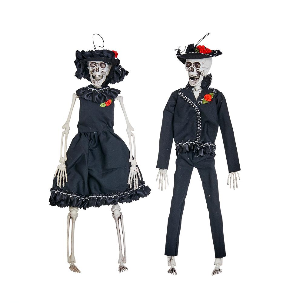 Bride And Groom Halloween Costume.15 In Halloween Hanging Skeleton Bride And Groom Set Of 2