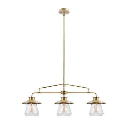 Nate 3-Light Brass Pendant