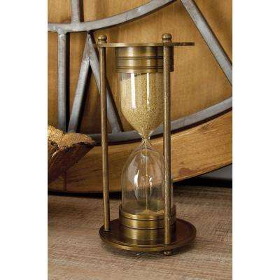 4 in. x 8 in. New Traditional Brass and Glass Sand Timer