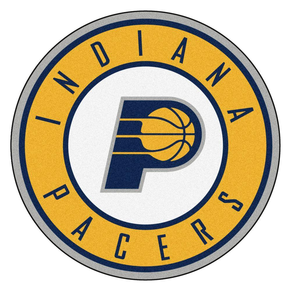 Fanmats Nba Indiana Pacers Gold 2 Ft 3 In X 2 Ft 3 In