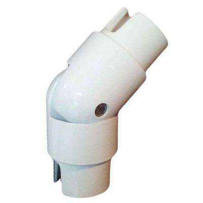 1.9 in. Aluminum Round ADA Handrail White Adjustable Angle