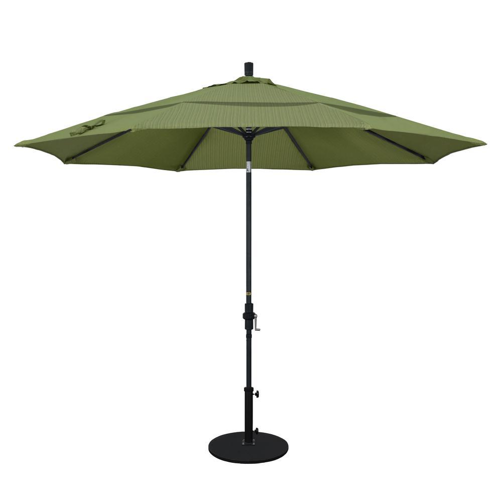 11 Ft. Aluminum Collar Tilt Double Vented Patio Umbrella In Terrace