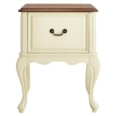 Provence Ivory File Cabinet with Ash Brown Top 24 in.
