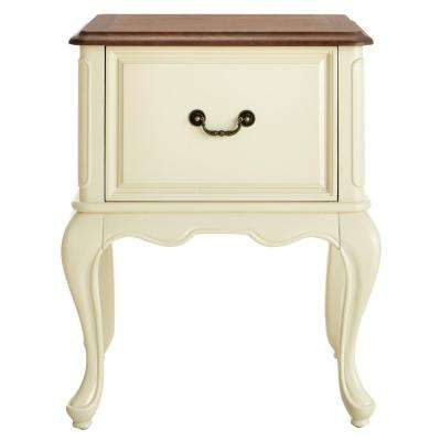 Provence Ivory File Cabinet with Ash Grey Top