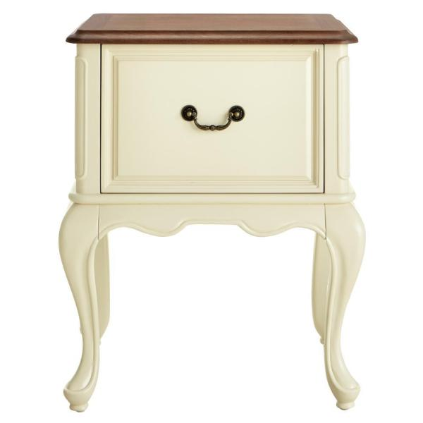 Home Decorators Collection Provence Ivory File Cabinet with Ash Brown Top