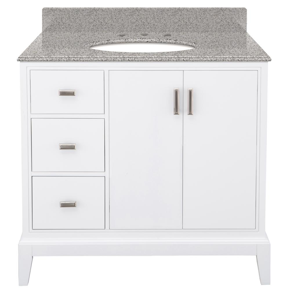 Prime Home Decorators Collection Shaelyn 37 In W X 22 In D Bath Vanity In White Left Hand Drawers With Granite Vanity Top In Napoli With White Basin Download Free Architecture Designs Boapuretrmadebymaigaardcom