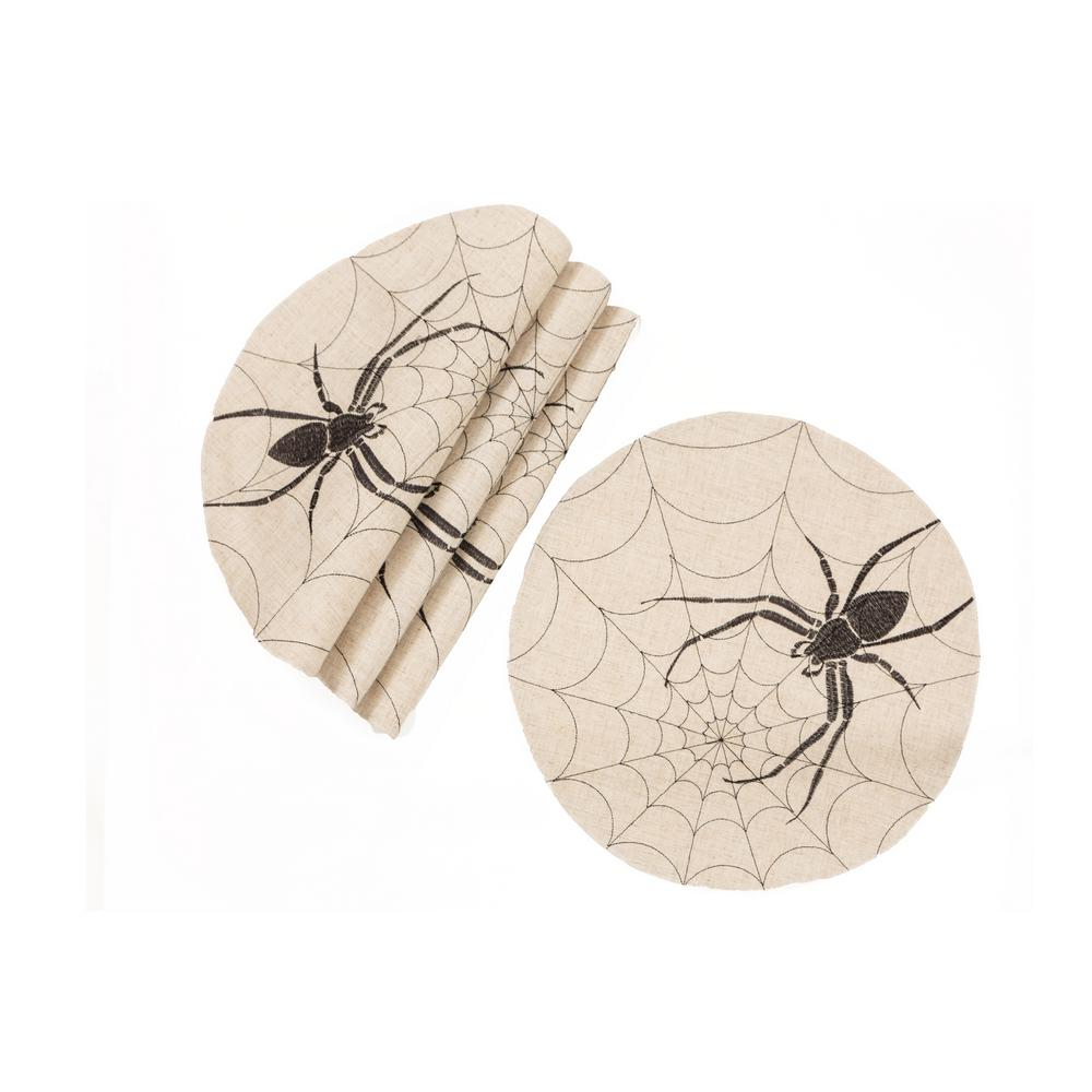 0.1 in. H x 16 in. W Halloween Creepy Spiders Double