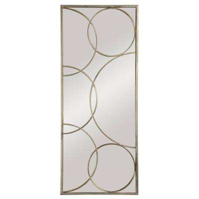 19 in. x 46 in. Deco Art Framed Mirror