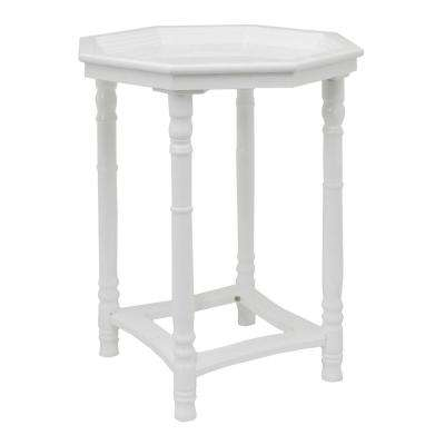 Wood Side Table in Gloss White