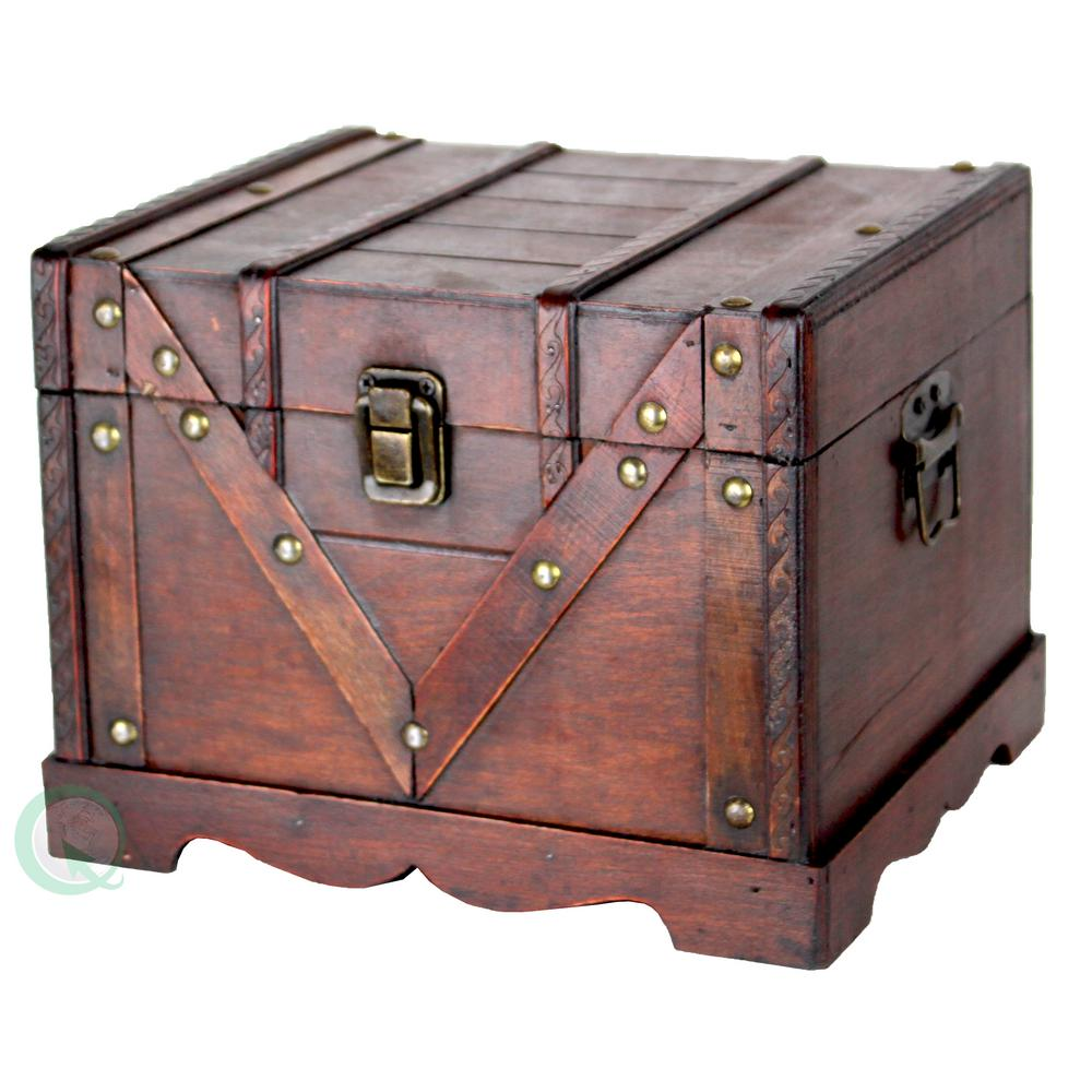 Great Vintiquewise Vintage Cherry Storage Trunk