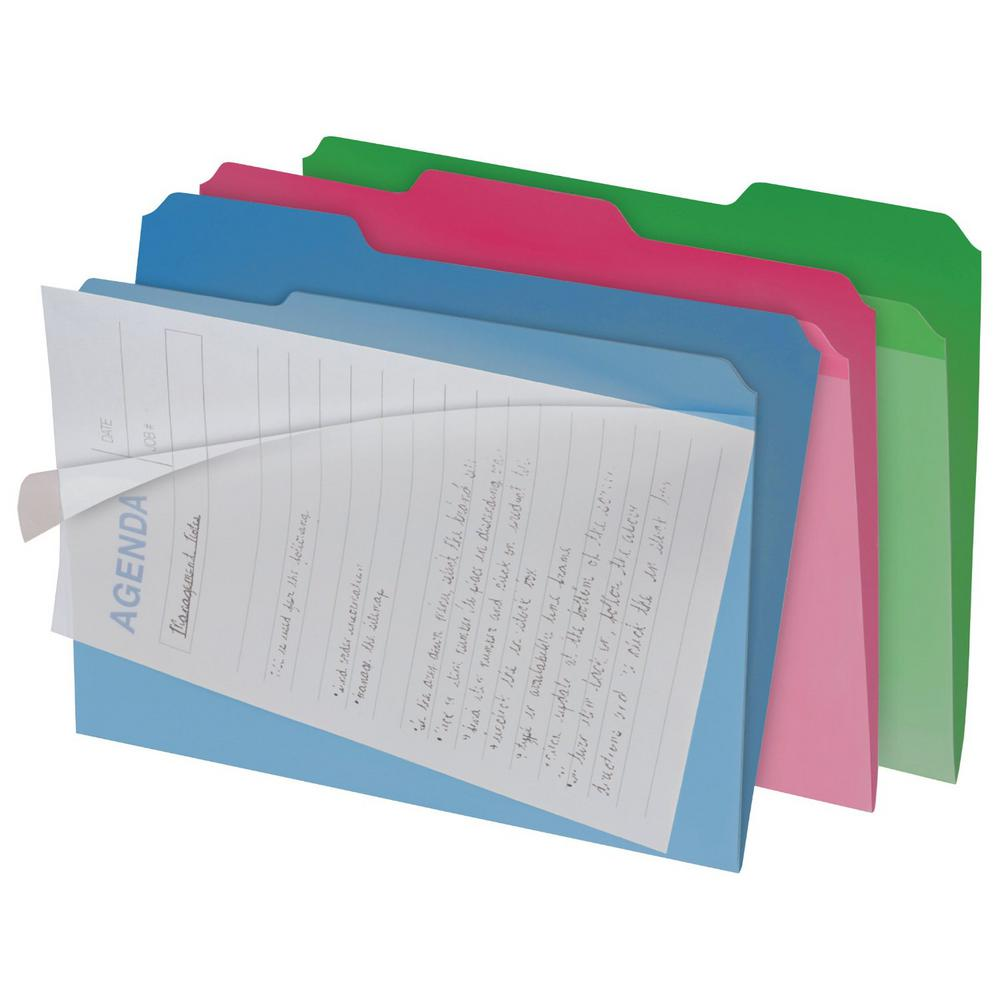 Find It Clearview Interior File Folder 6 Pk In Colors