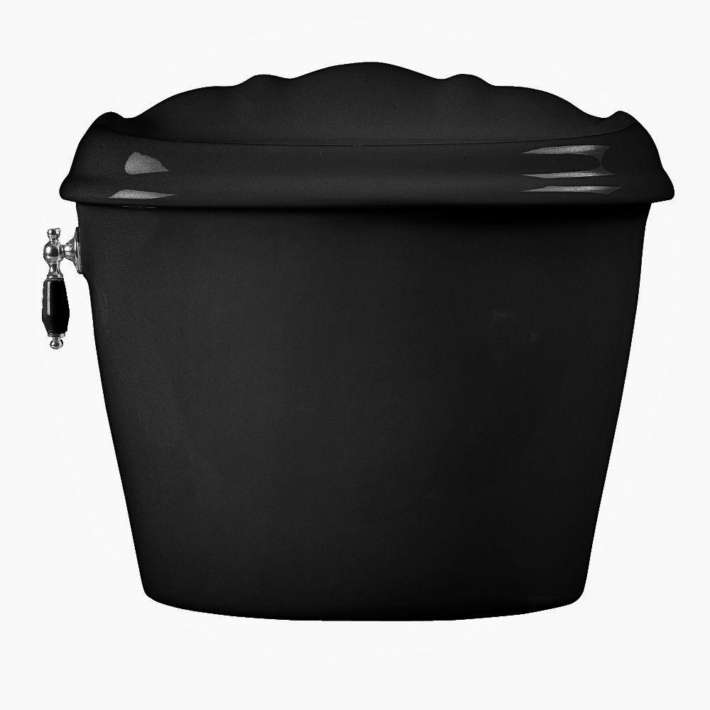 American Standard Reminiscence 1.6 GPF Toilet Tank Only in Black-DISCONTINUED