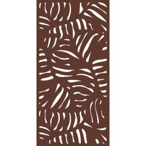 6 ft. x 3 ft. Espresso Brown Modinex Decorative Composite Fence Panel Featured in the Panama Design by