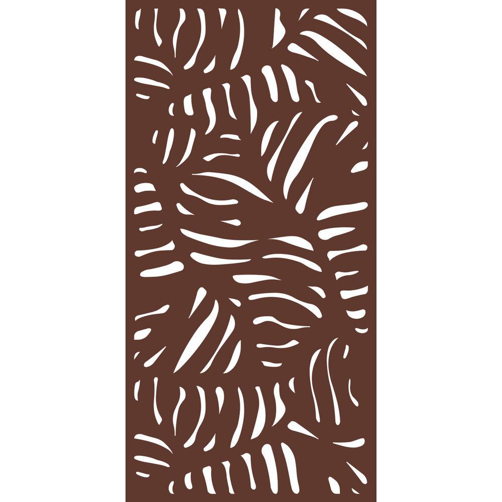 6 ft. x 3 ft. Espresso Brown Modinex Decorative Composite Fence Panel Featured in the Panama Design