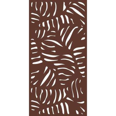 6 ft. x 3 ft. Espresso Brown  Decorative Composite Fence Panel Featured in the Panama Design