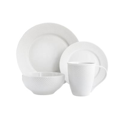 16-Piece White Chloe Dinnerware Set