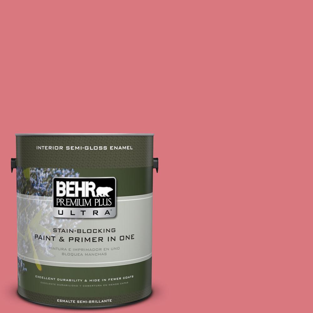 BEHR Premium Plus Ultra 1-gal. #P160-4 Juicy Details Semi-Gloss Enamel Interior Paint