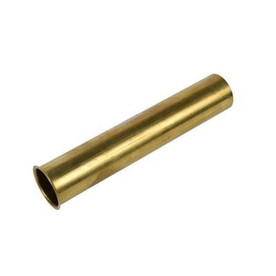 1-1/2 in. x 8 in. 17-Gauge Unfinished Brass Flanged Strainer Sink Drain Tailpiece Extension Tube