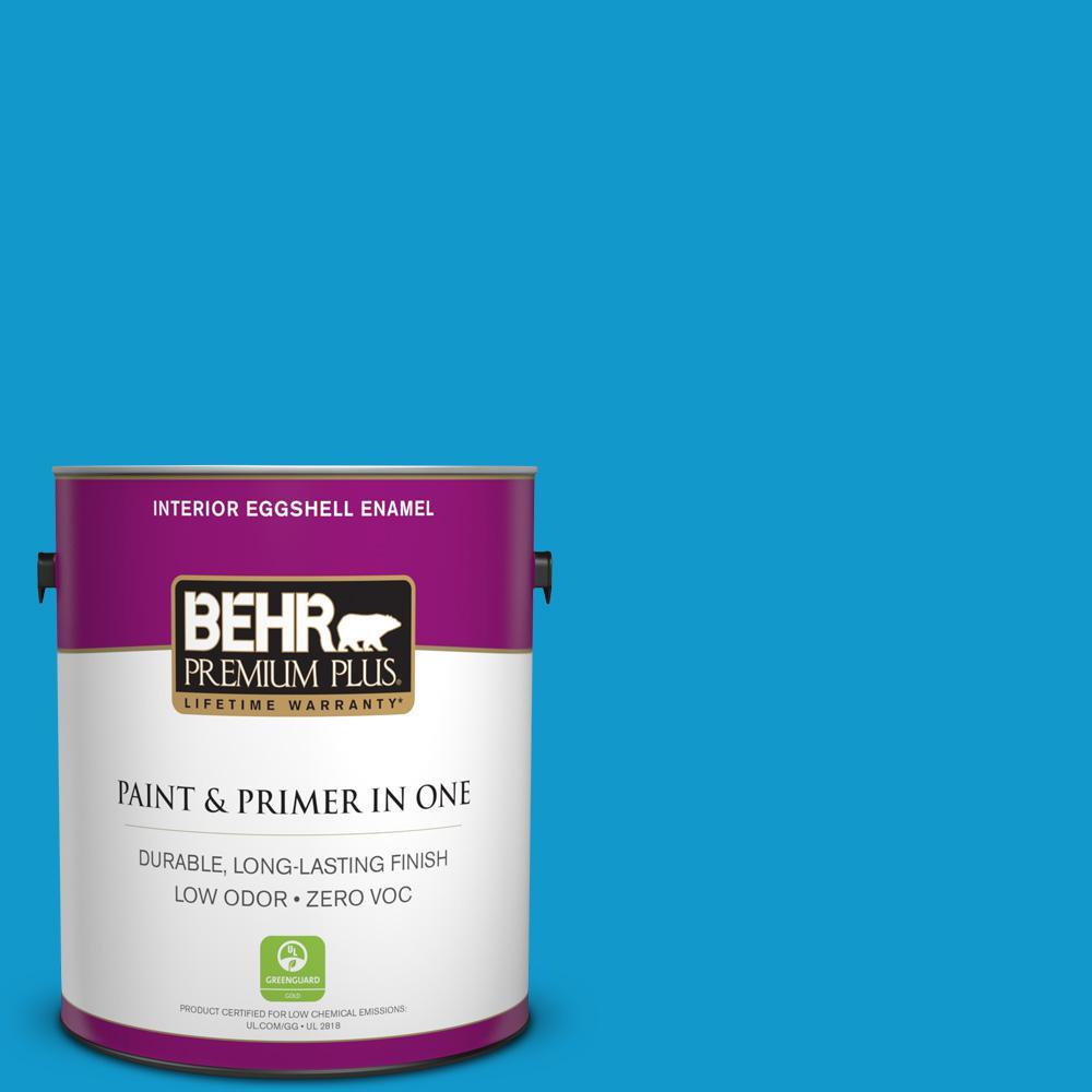 BEHR Premium Plus 1-gal. #550B-6 Isle of Capri Zero VOC Eggshell Enamel Interior Paint