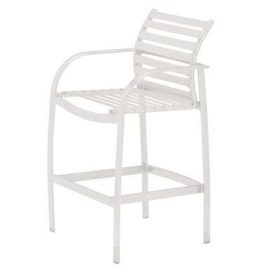 Scandia White Commercial Strap Patio Bar Stool