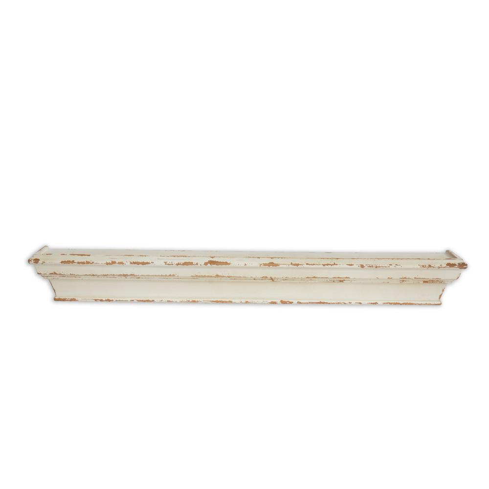 Cheyenne Distressed 36in Wood Wall Shelf