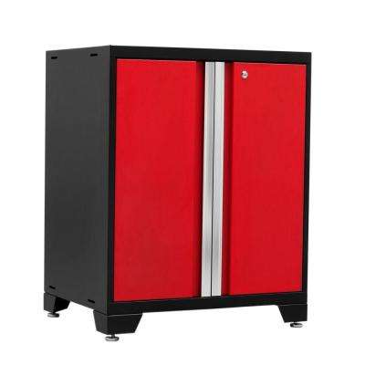 Pro 3 Series 37 in. H x 28 in. W x 22 in. D 18-Gauge Welded Steel 2-Door Base Cabinet in Red