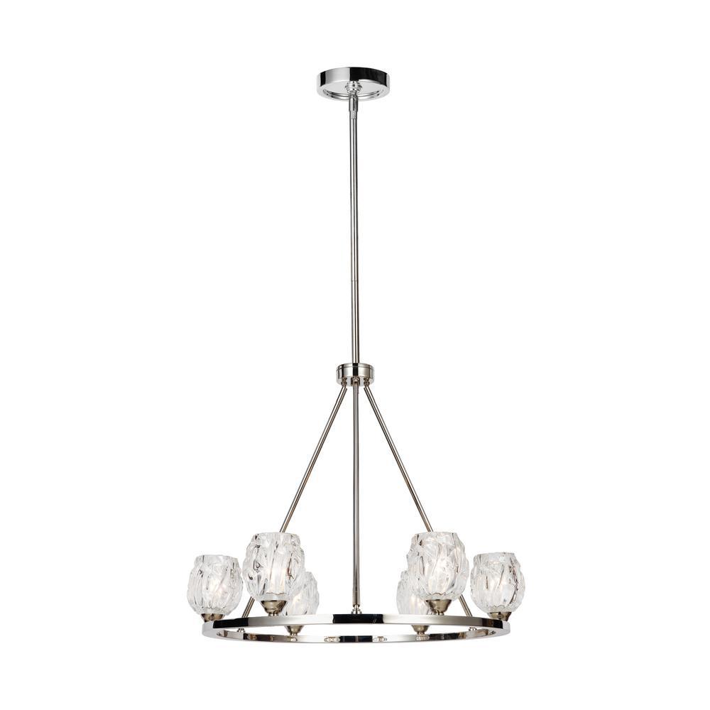 Rubin 6-Light Polished Nickel Chandelier