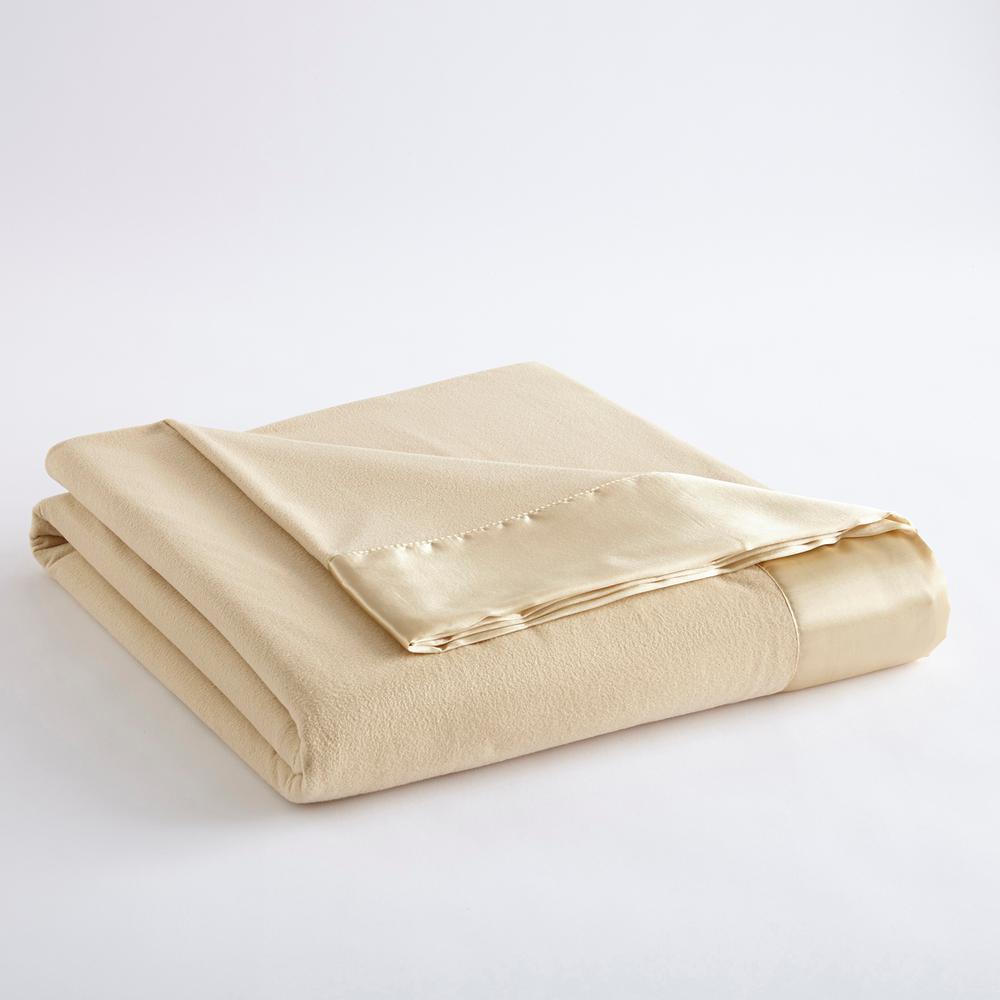 Micro Flannel Twin Chino Year Round Polyester Sheet Blanket MFNBKTWCHN12