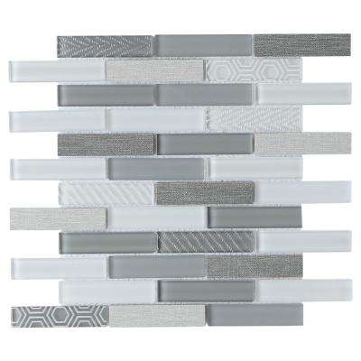 Volare Nebbia 11.73 in. x 11.73 in. x 7mm Glass Mesh-Mounted Mosaic Tile (0.96 sq. ft.)