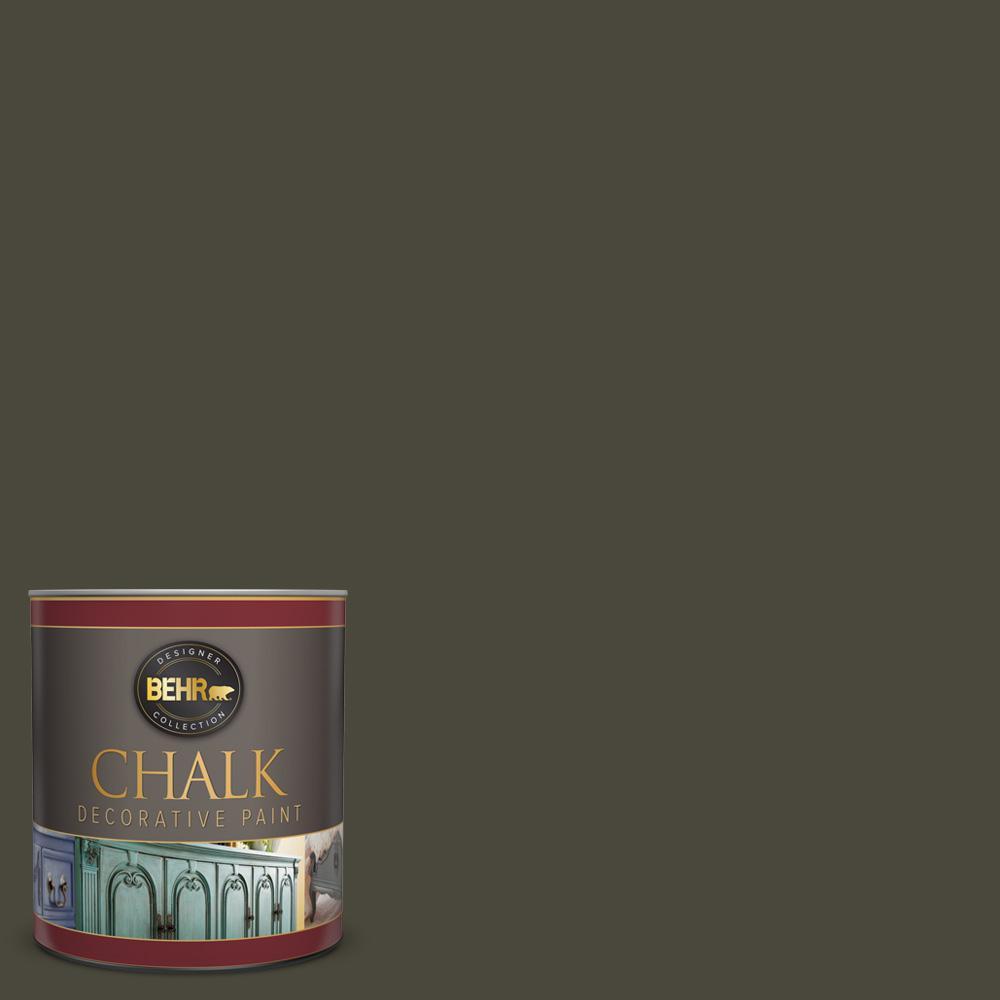 1 qt. #PPU24-01 Black Mocha Interior Chalk Decorative Paint