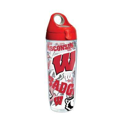 Unv Of Wisconsin All Over 24 oz. Double Walled Insulated Water Bottle