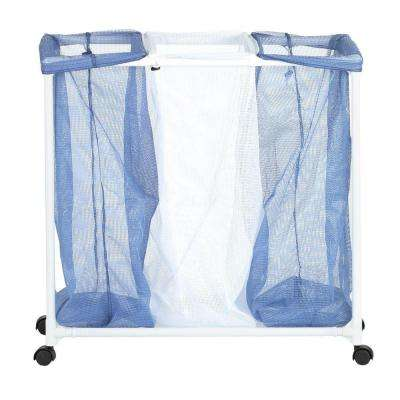 3-Bag Mesh Laundry Sorter Hamper