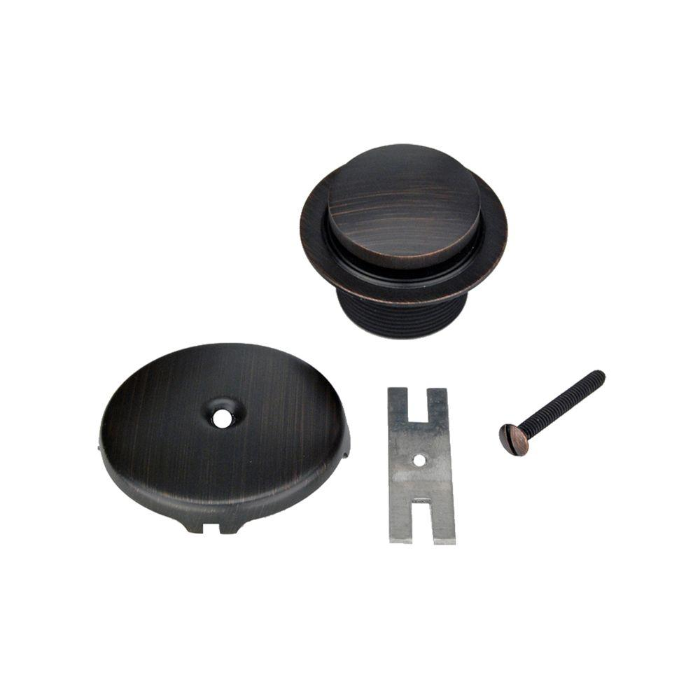 Tub Drain Trim and Single-Hole Overflow Cover for Bath Tubs, Oil