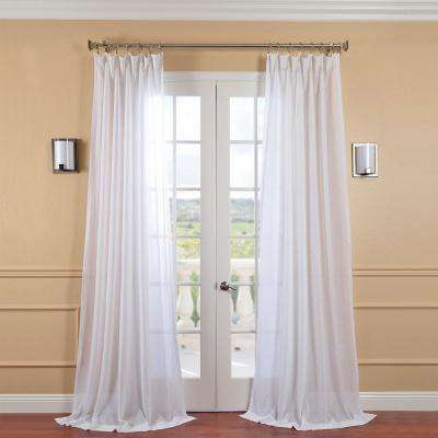 White Orchid Faux Linen Sheer Curtain - 50 in. W x 108 in. L