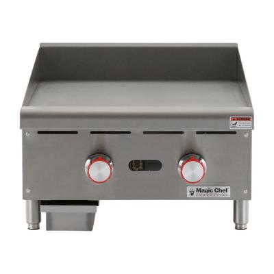 Commercial 24 in. Thermostatic Countertop Griddle