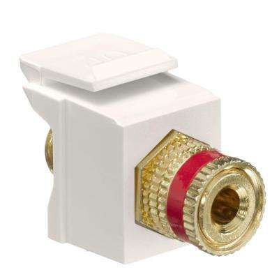 QuickPort Binding Post Connector with Red Stripe, Light Almond