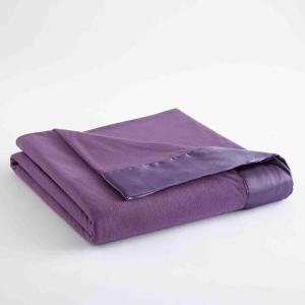 Micro Flannel All Seasons Lightweight Plum Solid Twin Flat Sheet