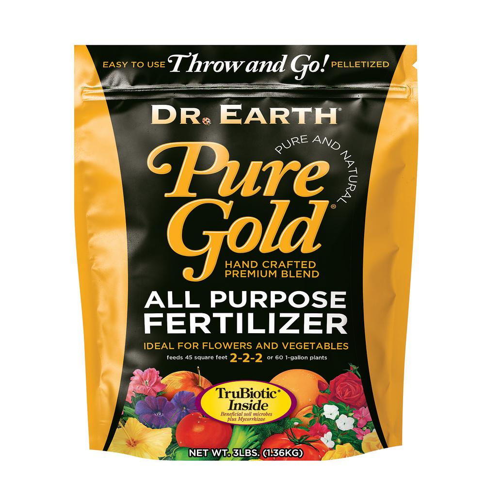 3 lbs. 90 sq. ft. Pure Gold All Purpose Pelletized Fertilizer