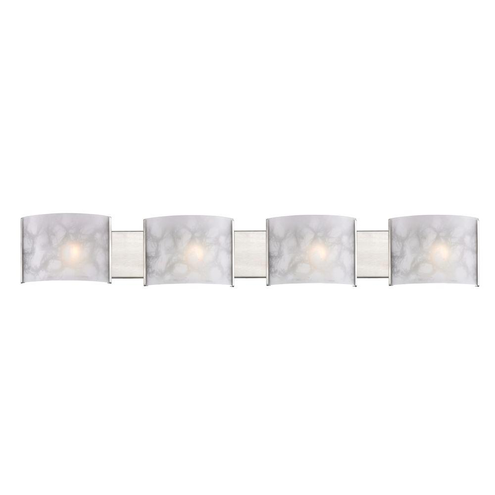 Filament Design Shadow 4-Light Brushed Nickel Bath Vanity Light